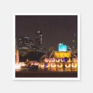 Het Park van de Toelage van Chicago Papieren Servet