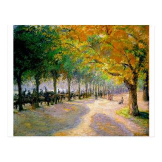 Het Park van Hyde, Londen door Camille Pissarro Briefkaart