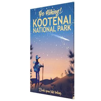Het park van Kootenai Nationaal de reisposter van Canvas Print