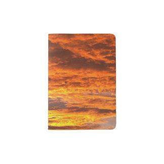 Het paspoorthouder van de zonsondergang paspoort houder