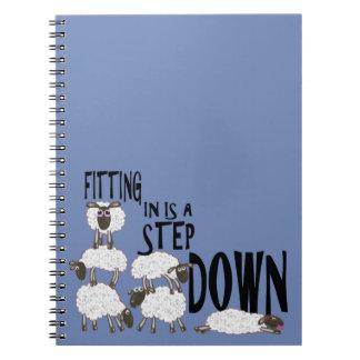 Het passen is een Stap - onderaan Notitieboekje Notitieboek