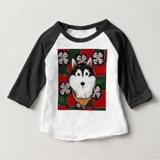 Het Pasteitje van van Alaska-Malamute St. Baby T Shirts