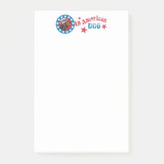 Het patriottische Amerikaanse Spaniel van het Post-it® Notes