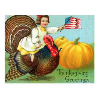 Het patriottische Briefkaart van de Thanksgiving