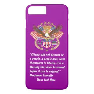 Het patriottische Donkerpaarse Bos van de Vrede iPhone 8/7 Plus Hoesje