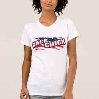 Het patriottische Gepaste Kuiken van het Ras T Shirt