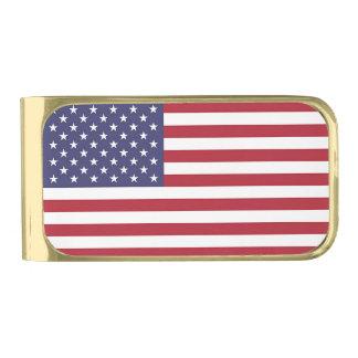 Het patriottische Goud beëindigt de Klem van het Vergulde Geldclip