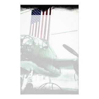 Het patriottische Militaire Vliegtuig van WO.II Briefpapier