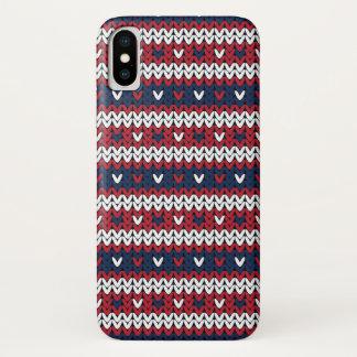 Het patriottische Patroon van de Sweater van iPhone X Hoesje