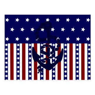 Het patriottische Patroon van de Zeeman van het Briefkaart