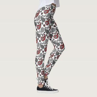 Het Patroon, de Zwarte, het Wit en het Rood van Leggings
