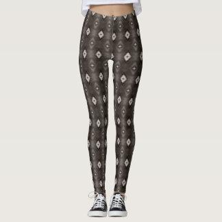 Het patroon grijze beenkappen van de diamant leggings