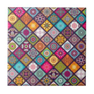 Het patroon kleurrijke Marokkaan van Mandala Keramisch Tegeltje