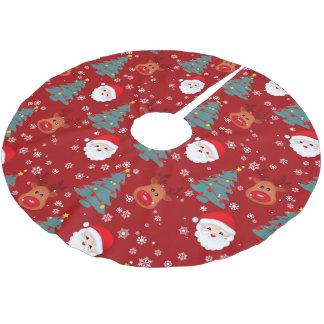 Het patroon rode achtergrond van de Kerstman van Kerstboom Rok