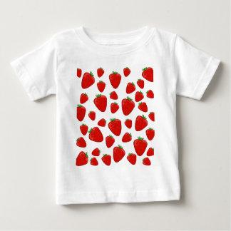 Het patroon van de aardbei baby t shirts