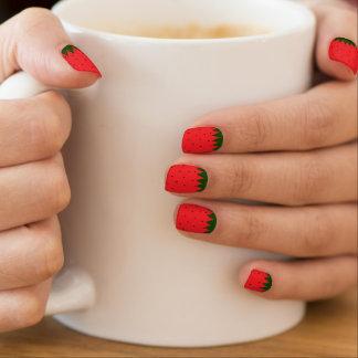 Het patroon van de aardbei minx nail folie
