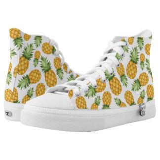 Het Patroon van de Ananas van de cartoon High Top Schoenen