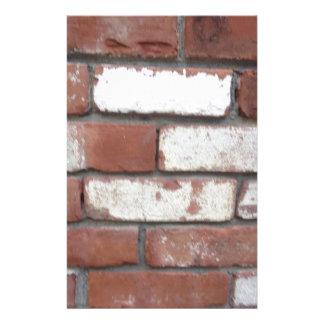 Het patroon van de baksteen briefpapier