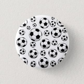 Het Patroon van de Bal van het voetbal Ronde Button 3,2 Cm