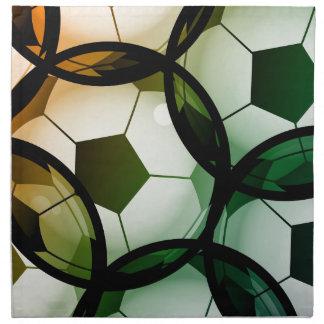 Het Patroon van de Bal van het voetbal Servet