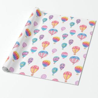 Het Patroon van de Ballon van de hete Lucht Cadeaupapier