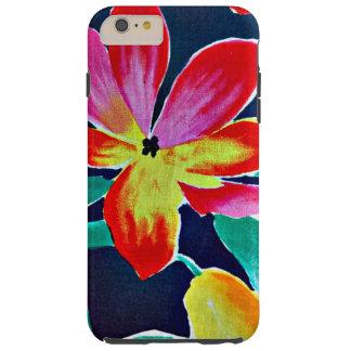 Het patroon van de batik, tropische kleuren, tough iPhone 6 plus hoesje