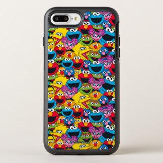 Het Patroon van de Bemanning van het Sesame Street OtterBox Symmetry iPhone 8 Plus / 7 Plus Hoesje
