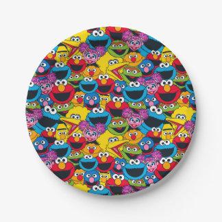 Het Patroon van de Bemanning van het Sesame Street Papieren Bordje