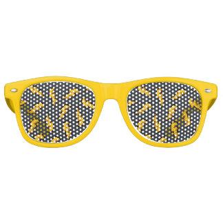 Het Patroon van de bliksem Retro Zonnebril