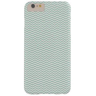 Het Patroon van de Chevron van Greeen Barely There iPhone 6 Plus Hoesje