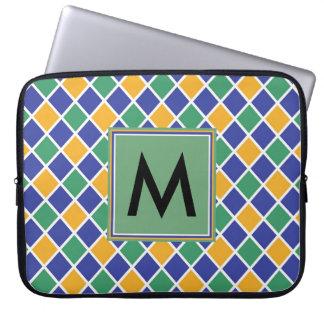 Het Patroon van de diamant #86 Met monogram Computer Sleeves