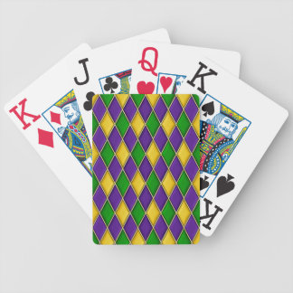 Het Patroon van de Diamant van de Harlekijn van Gr Bicycle Speelkaarten