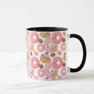 Het Patroon van de doughnut en van het Dessert Mok