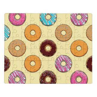 Het Patroon van de doughnut op Geel