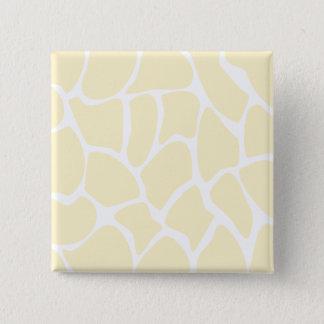 Het Patroon van de Druk van de giraf in de Kleur Vierkante Button 5,1 Cm