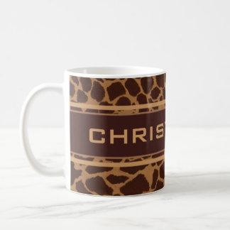 Het Patroon van de Druk van de Huid van de giraf Koffiemok