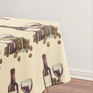 Het Patroon van de Druk van de Wijnmakerij van de Tafelkleed