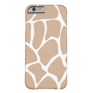 Het Patroon van de giraf in Beige Barely There iPhone 6 Hoesje