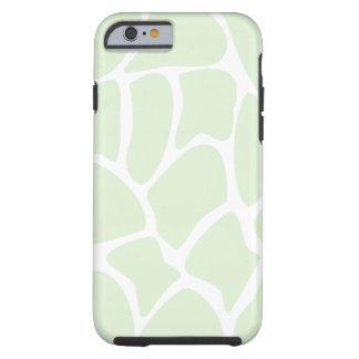 Het Patroon van de giraf in Groene Munt Tough iPhone 6 Hoesje