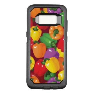 Het Patroon van de groene paprika OtterBox Commuter Samsung Galaxy S8 Hoesje