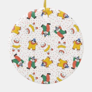 Het Patroon van de Illustratie van de Dieren van Rond Keramisch Ornament