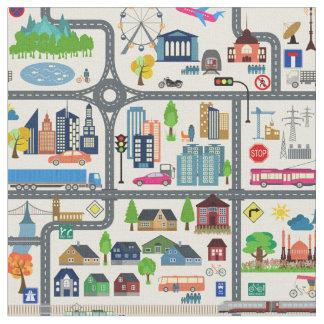 Het Patroon van de Kaart van de stad Stof