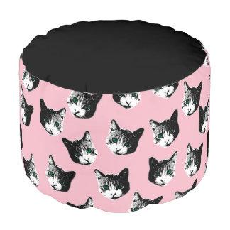 Het patroon van de kat poef
