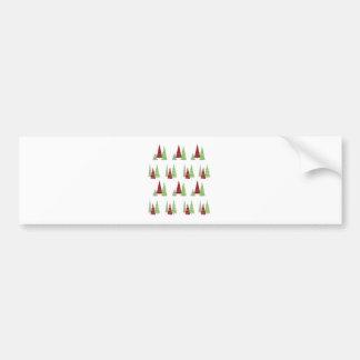 Het Patroon van de kerstboom Bumpersticker