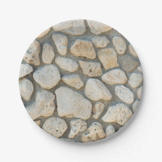 Het patroon van de kiezelsteen papieren bordje
