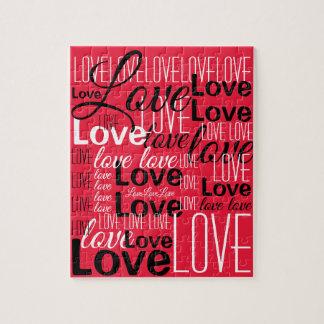 Het Patroon van de Kunst van Word van de liefde Legpuzzel