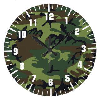 het patroon van de legercamouflage ronde klok large