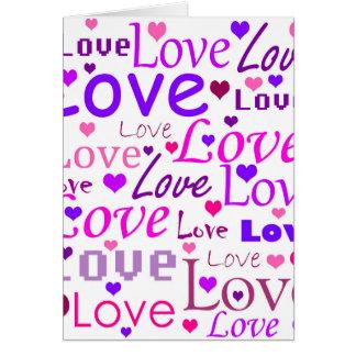 Het patroon van de liefde wenskaart