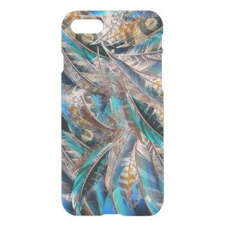 Het patroon van de mode met blauwe veren. Trendy iPhone 8/7 Hoesje