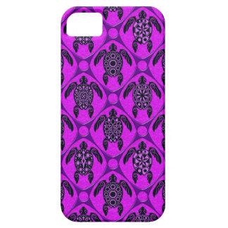 Het Patroon van de paarse en Schildpad van de Barely There iPhone 5 Hoesje